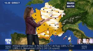 Fanny Agostini à la Météo de BFM TV - 23/01/17 - 32