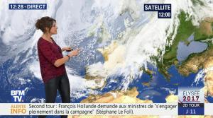 Fanny Agostini à la Météo de BFM TV - 26/04/17 - 02