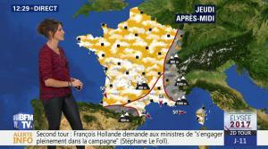Fanny Agostini à la Météo de BFM TV - 26/04/17 - 03