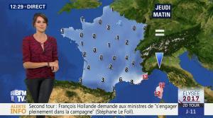 Fanny Agostini à la Météo de BFM TV - 26/04/17 - 05
