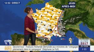 Fanny Agostini à la Météo de BFM TV - 26/04/17 - 08