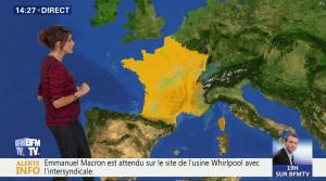 Fanny Agostini à la Météo de BFM TV - 26/04/17 - 12