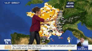 Fanny Agostini à la Météo de BFM TV - 26/04/17 - 13