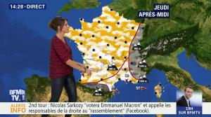 Fanny Agostini à la Météo de BFM TV - 26/04/17 - 14