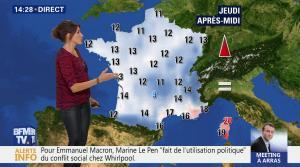 Fanny Agostini à la Météo de BFM TV - 26/04/17 - 15