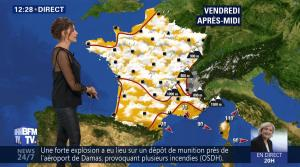 Fanny Agostini à la Météo de BFM TV - 27/04/17 - 02
