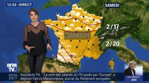 Fanny Agostini à la Météo de BFM TV - 27/04/17 - 07