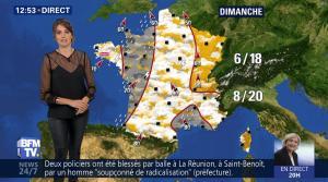 Fanny Agostini à la Météo de BFM TV - 27/04/17 - 08