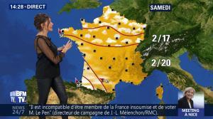Fanny Agostini à la Météo de BFM TV - 27/04/17 - 14
