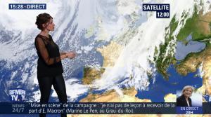 Fanny Agostini à la Météo de BFM TV - 27/04/17 - 18