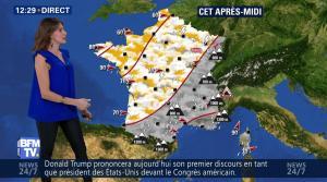Fanny Agostini à la Météo de BFM TV - 28/02/17 - 05