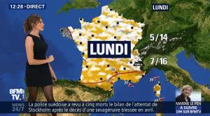 Fanny Agostini à la Météo de BFM TV - 28/04/17 - 04