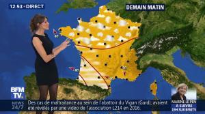 Fanny Agostini à la Météo de BFM TV - 28/04/17 - 06