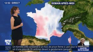 Fanny Agostini à la Météo de BFM TV - 28/04/17 - 07