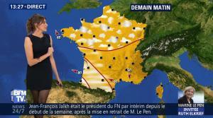 Fanny Agostini à la Météo de BFM TV - 28/04/17 - 09