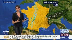 Fanny Agostini à la Météo de BFM TV - 31/03/17 - 03