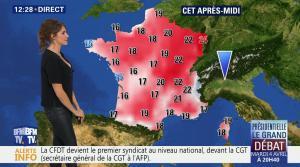 Fanny Agostini à la Météo de BFM TV - 31/03/17 - 04