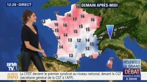 Fanny Agostini à la Météo de BFM TV - 31/03/17 - 05