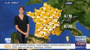 Fanny Agostini à la Météo de BFM TV - 31/03/17 - 06