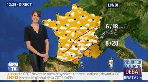 Fanny Agostini à la Météo de BFM TV - 31/03/17 - 07