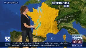Fanny Agostini à la Météo de BFM TV - 31/03/17 - 17