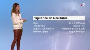 Chloé Nabédian à la Météo de Midi - 22/10/19 - 04