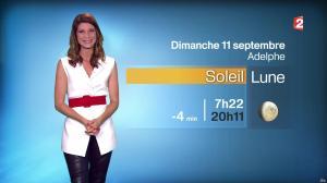 Chloé Nabedian à la Météo du Soir - 10/09/16 - 06