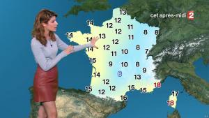 Chloé Nabedian à la Météo de Midi - 10/11/17 - 07