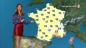 Chloé Nabedian à la Météo de Midi - 15/09/17 - 08