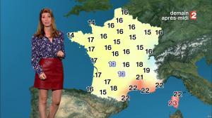 Chloé Nabedian à la Météo de Midi - 15/09/17 - 11