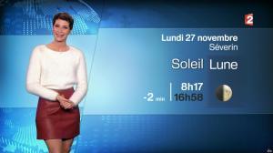 Chloé Nabédian à la Météo du Soir - 26/11/17 - 06