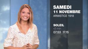 Gennifer Demey à la Météo du Soir - 10/11/17 - 16