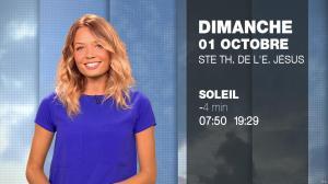 Gennifer Demey à la Météo du Soir - 30/09/17 - 12