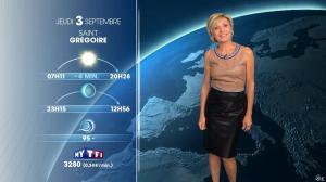 Evelyne Dhéliat à la Météo de 20h - 02/09/15 - 04