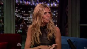 Heidi Klum dans Late Night With Jimmy Fallon - 04/09/13 - 06