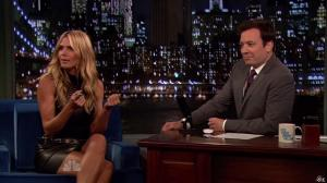 Heidi Klum dans Late Night With Jimmy Fallon - 04/09/13 - 07