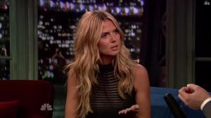 Heidi Klum dans Late Night With Jimmy Fallon - 04/09/13 - 08