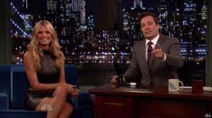 Heidi Klum dans Late Night With Jimmy Fallon - 04/09/13 - 16