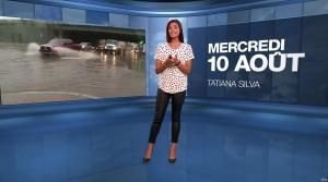 Tatiana Silva à la Météo - 10/08/16 - 02