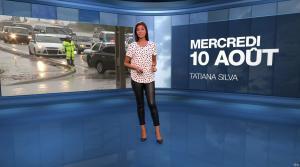 Tatiana Silva à la Météo - 10/08/16 - 04
