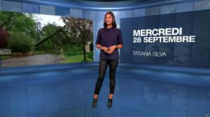 Tatiana Silva à la Météo du Soir - 28/09/16 - 02