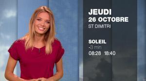 Gennifer Demey à la Météo du Soir - 25/10/17 - 08