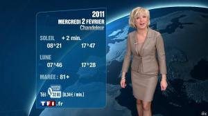 Evelyne Dhéliat à la Météo de 20h - 01/02/11 - 02