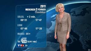 Evelyne Dhéliat à la Météo de 20h - 01/02/11 - 03