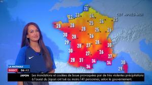 Alexandra Blanc à la Météo - 10/07/18 - 02