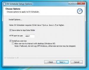 ext - Installation de DV scheduler