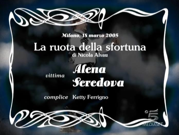 Alena Seredova dans Scherzi à Parte. Diffusé à la télévision le 17/04/05.