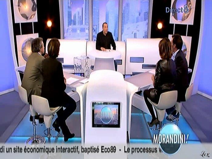 Alessandra Sublet chez Morandini. Diffusé à la télévision le 01/10/08.