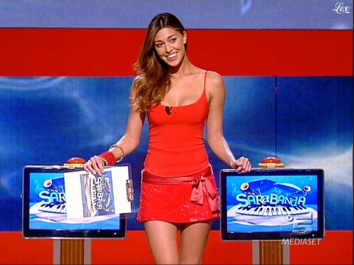 Belen Rodriguez dans Sarabanda. Diffusé à la télévision le 27/08/09.