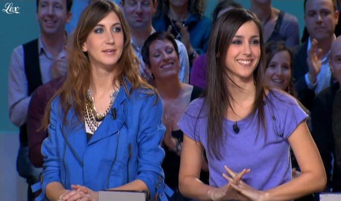 Elise Chassaing et Tania Bruna-Rosso dans le Grand Journal De Canal Plus. Diffusé à la télévision le 06/03/09.